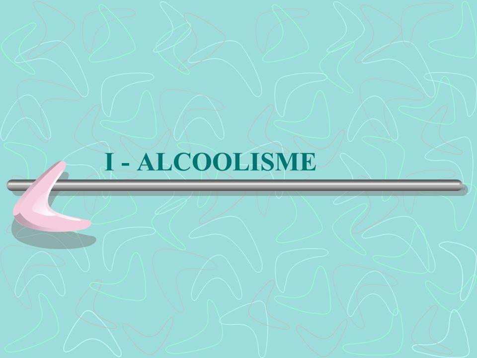 I - ALCOOLISME