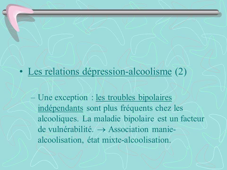 Les relations dépression-alcoolisme (2)