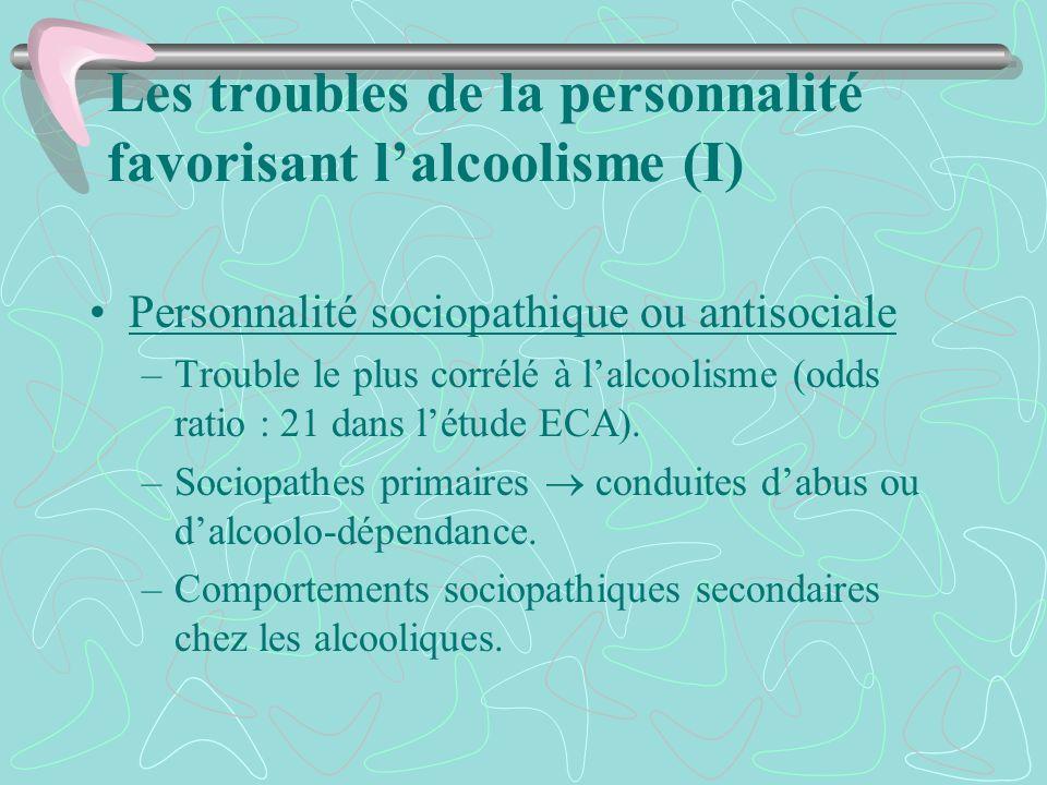 Les troubles de la personnalité favorisant l'alcoolisme (I)