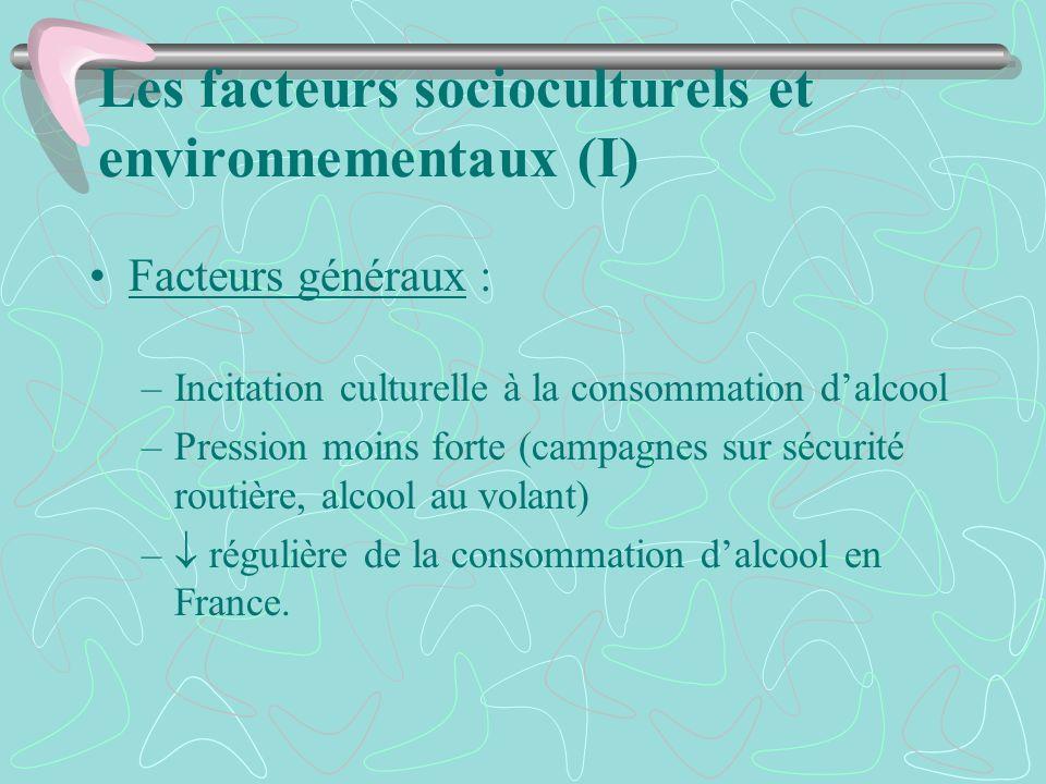 Les facteurs socioculturels et environnementaux (I)