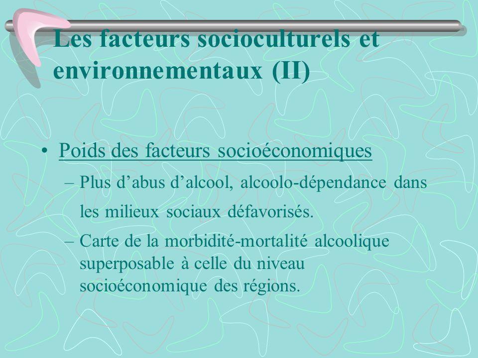 Les facteurs socioculturels et environnementaux (II)