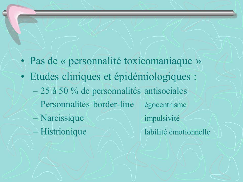 Pas de « personnalité toxicomaniaque »