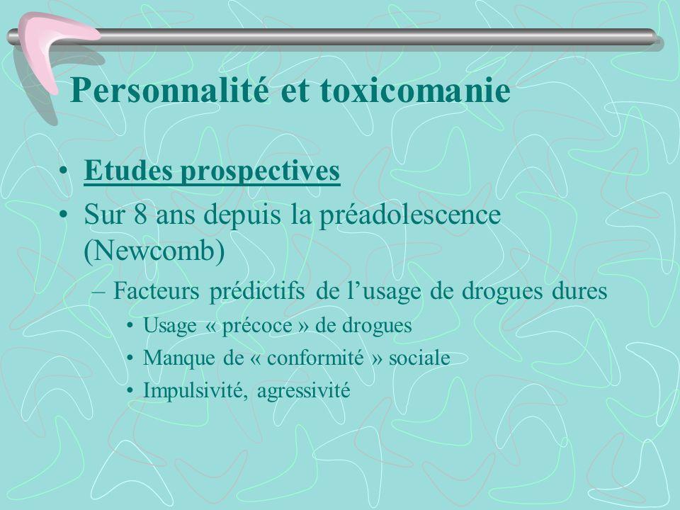 Personnalité et toxicomanie