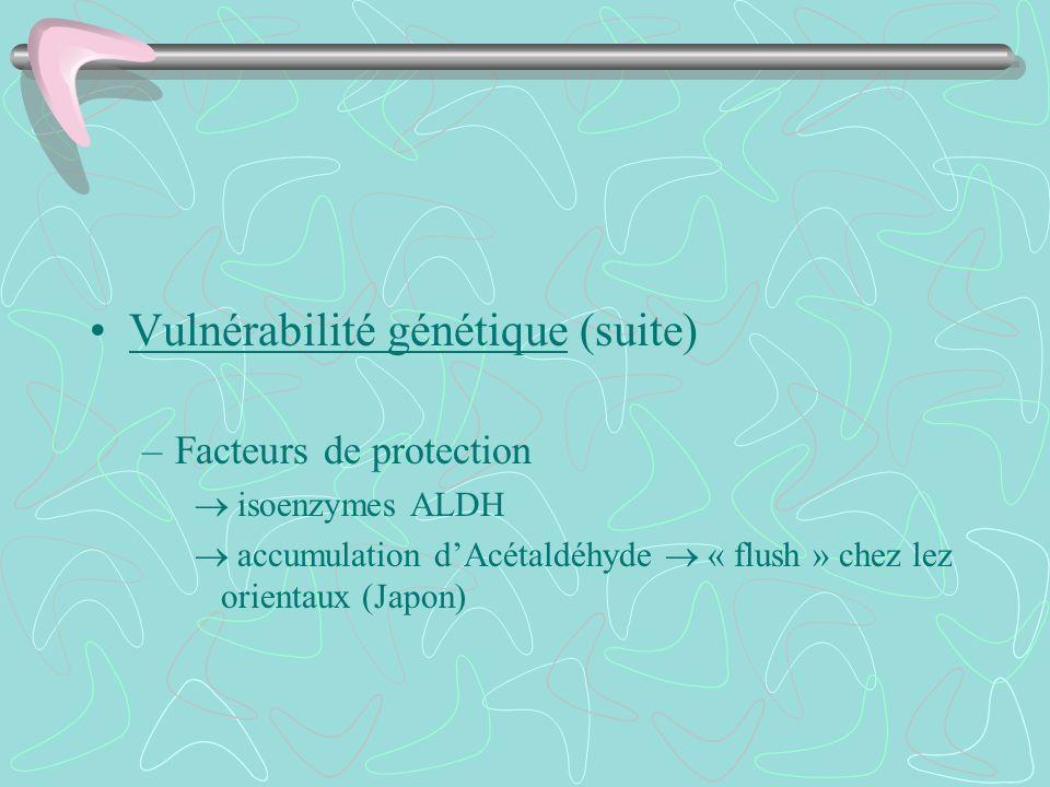 Vulnérabilité génétique (suite)