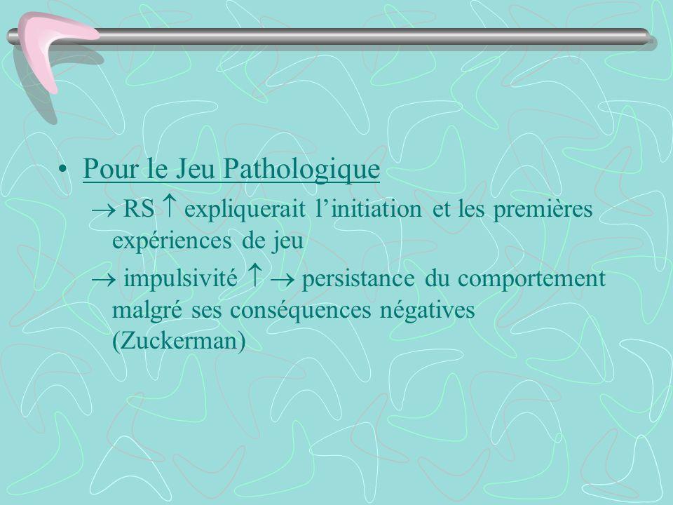 Pour le Jeu Pathologique
