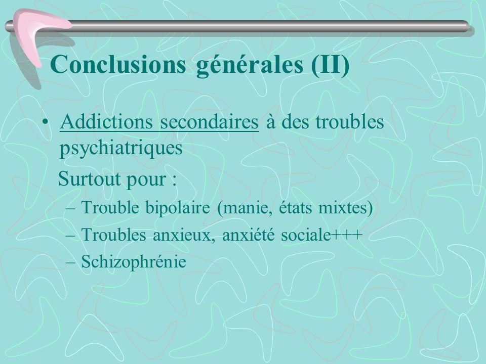 Conclusions générales (II)