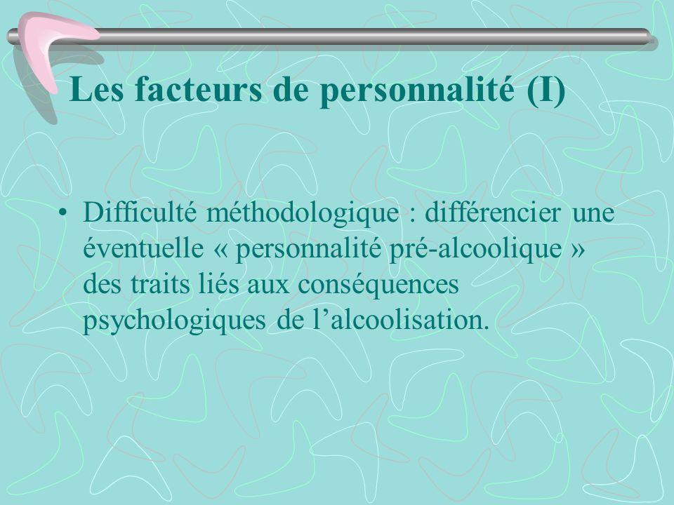Les facteurs de personnalité (I)