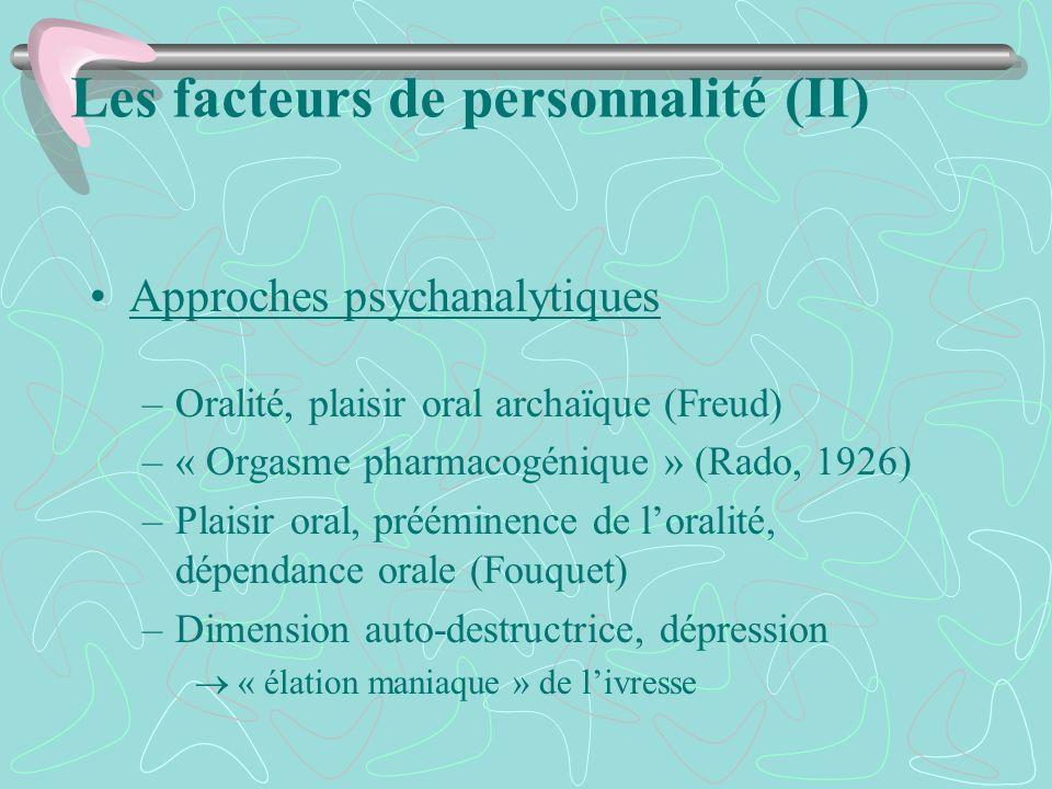 Les facteurs de personnalité (II)