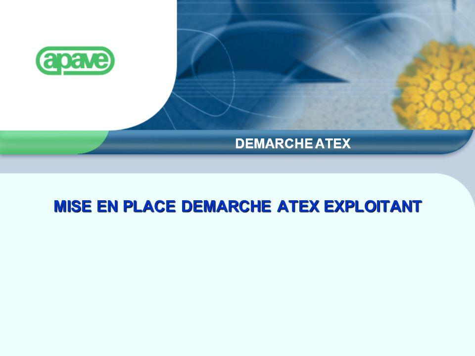 MISE EN PLACE DEMARCHE ATEX EXPLOITANT