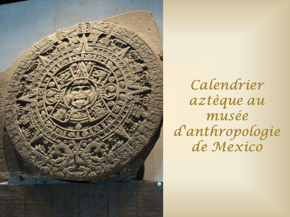 Calendrier aztèque au musée d anthropologie de Mexico