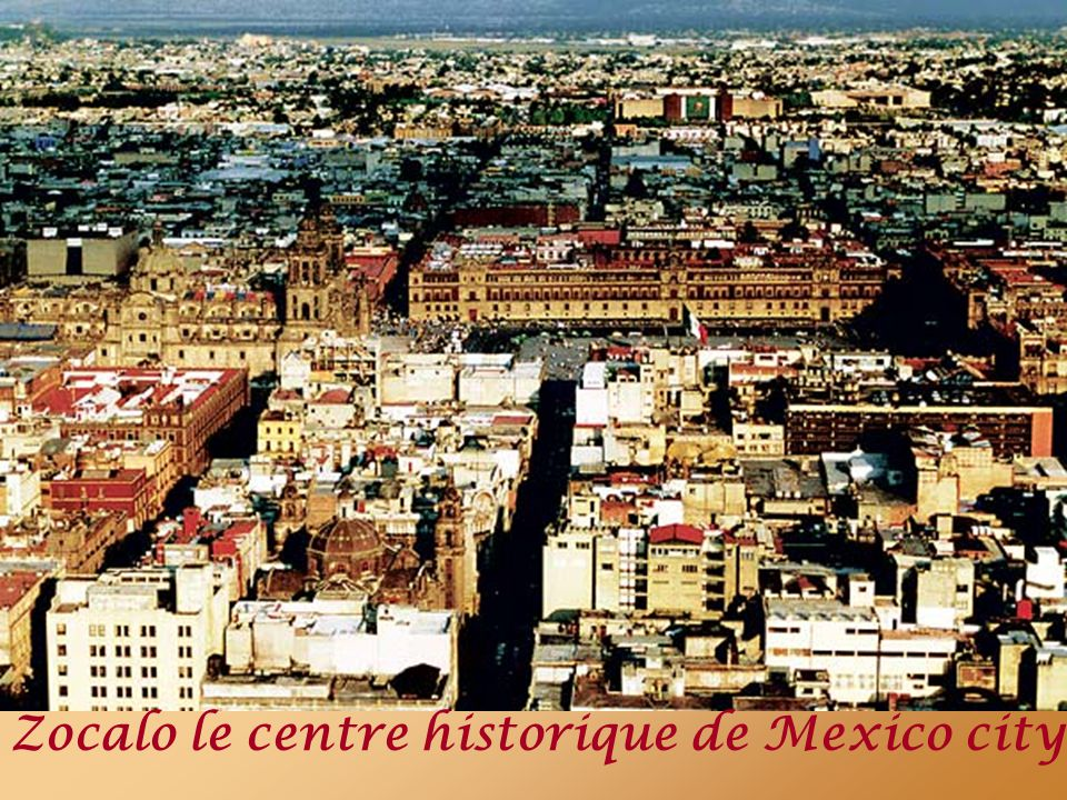 Zocalo le centre historique de Mexico city