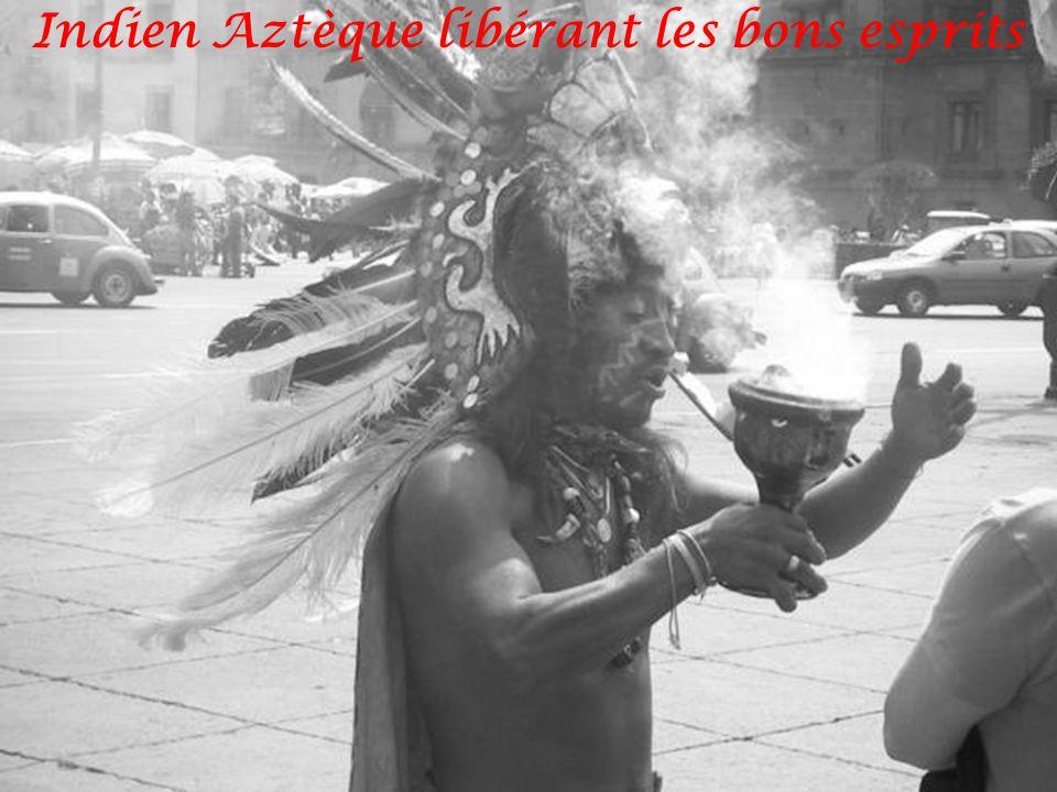 Indien Aztèque libérant les bons esprits
