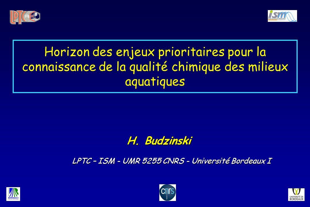 H. Budzinski LPTC – ISM - UMR 5255 CNRS - Université Bordeaux I