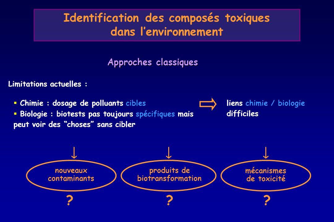 Identification des composés toxiques dans l'environnement