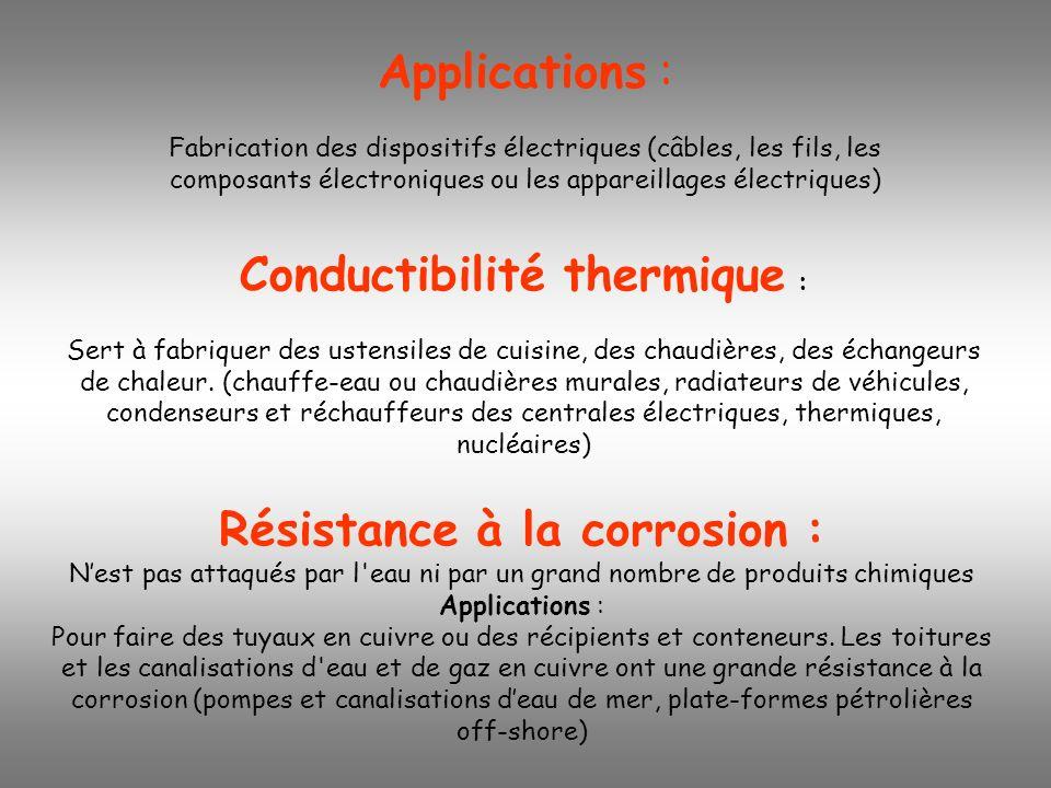 Conductibilité thermique :