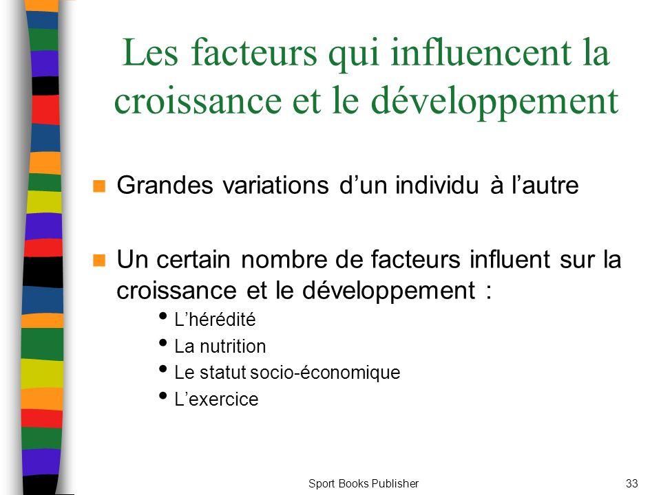Les facteurs qui influencent la croissance et le développement
