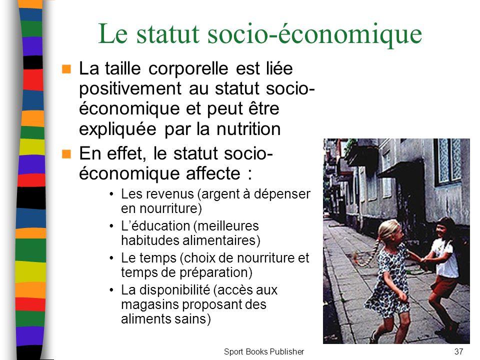 Le statut socio-économique