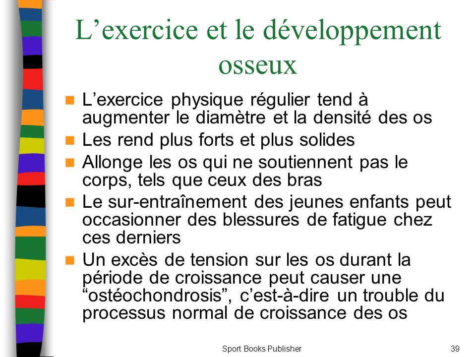 L'exercice et le développement osseux