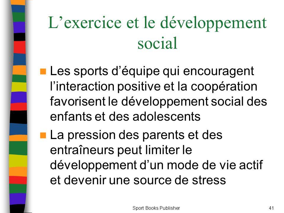 L'exercice et le développement social