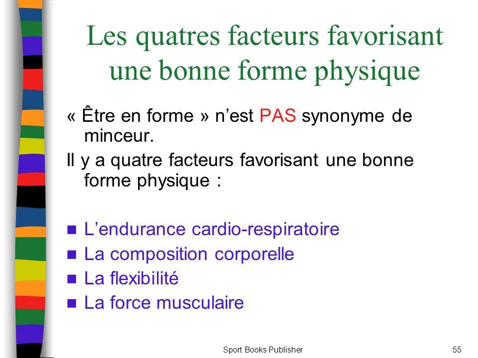 Les quatres facteurs favorisant une bonne forme physique