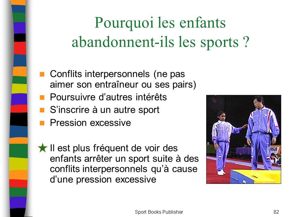 Pourquoi les enfants abandonnent-ils les sports