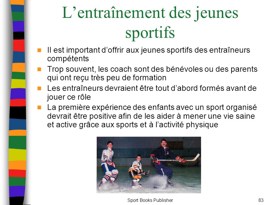 L'entraînement des jeunes sportifs