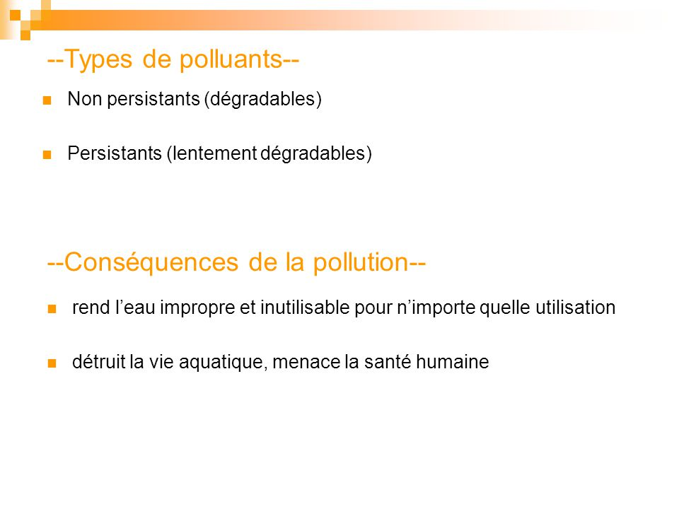 --Types de polluants--