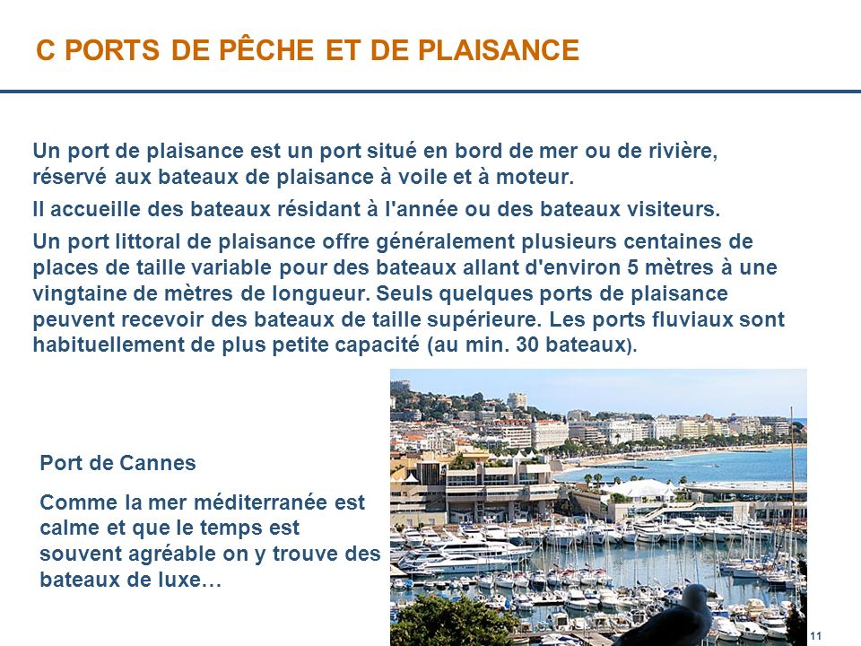 Les ports de france introduction i les diff rents ports - Liste des ports de plaisance en france ...