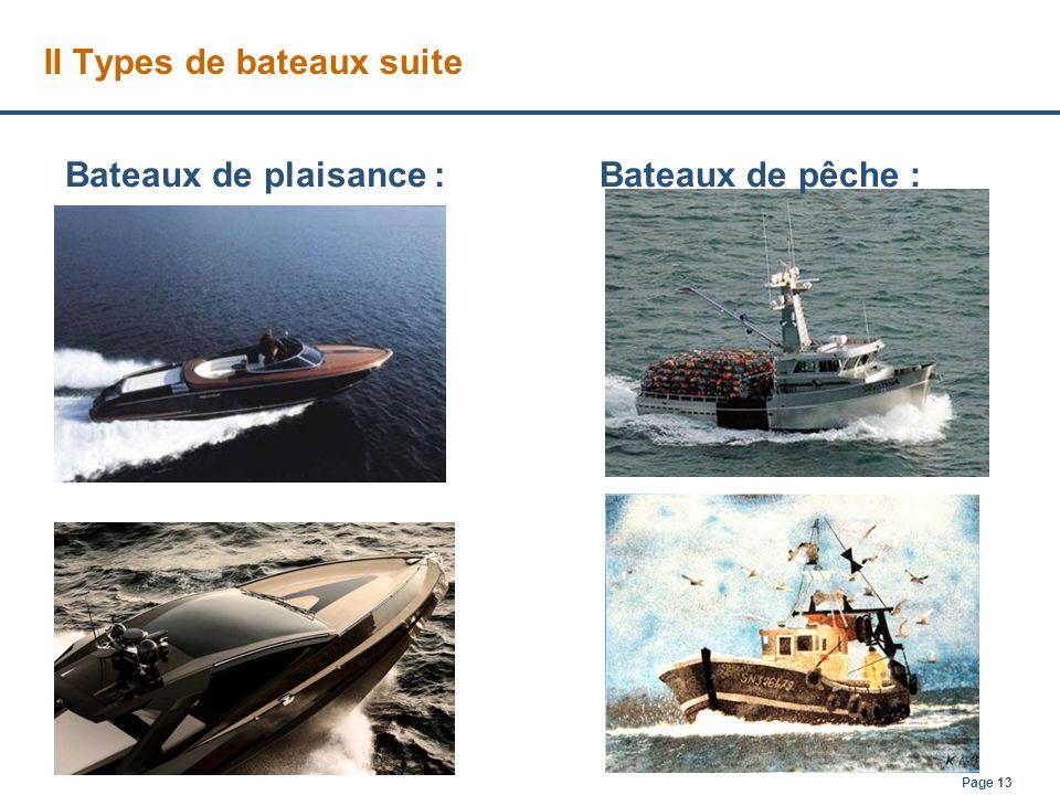 II Types de bateaux suite