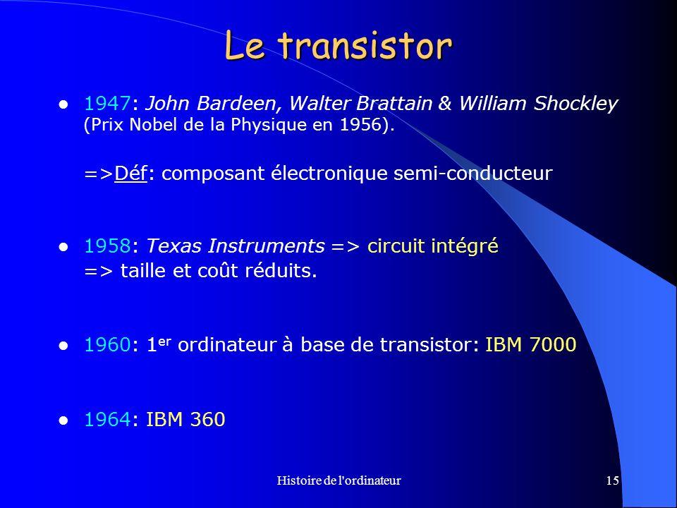 Histoire de l ordinateur