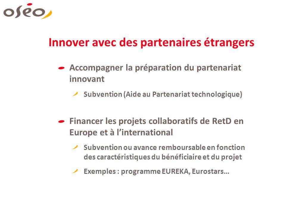 Innover avec des partenaires étrangers