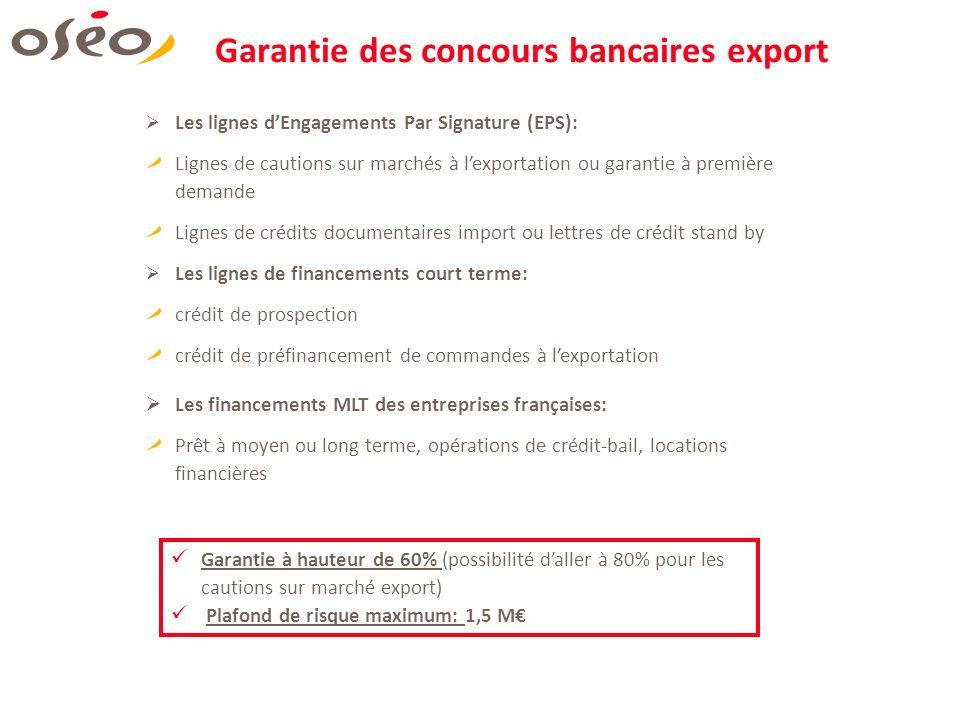 Garantie des concours bancaires export