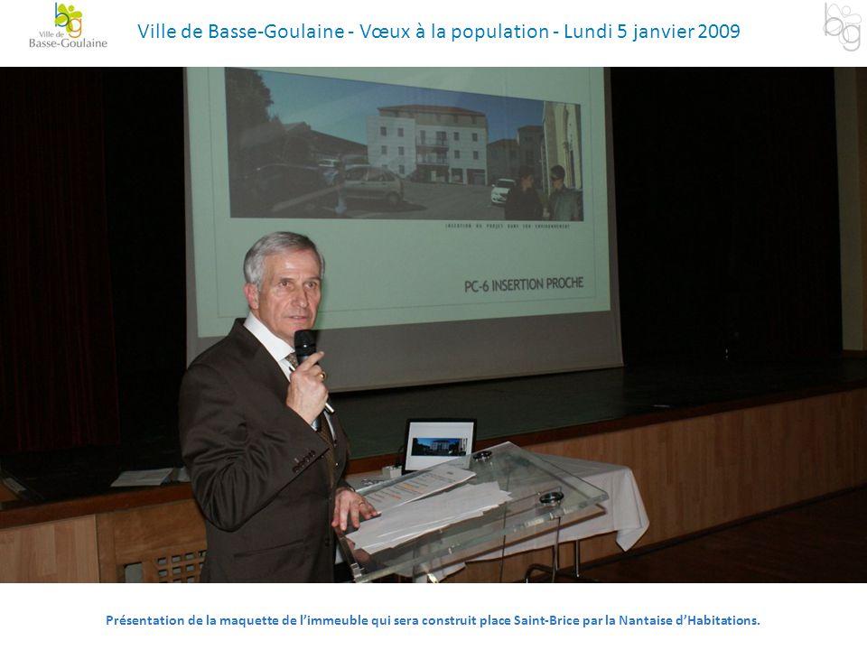 Ville de Basse-Goulaine - Vœux à la population - Lundi 5 janvier 2009