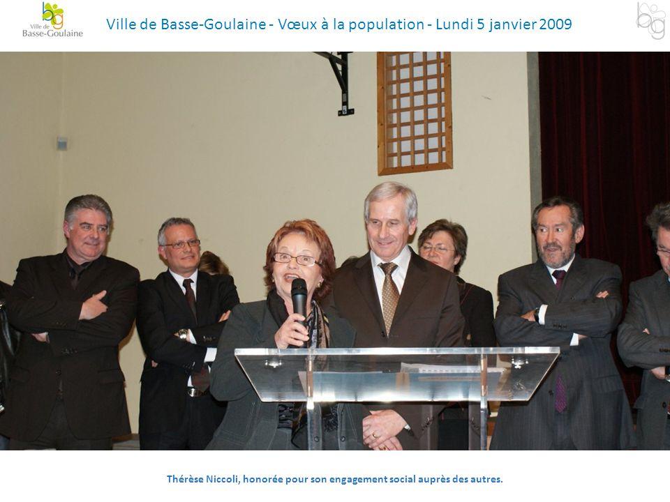 Thérèse Niccoli, honorée pour son engagement social auprès des autres.