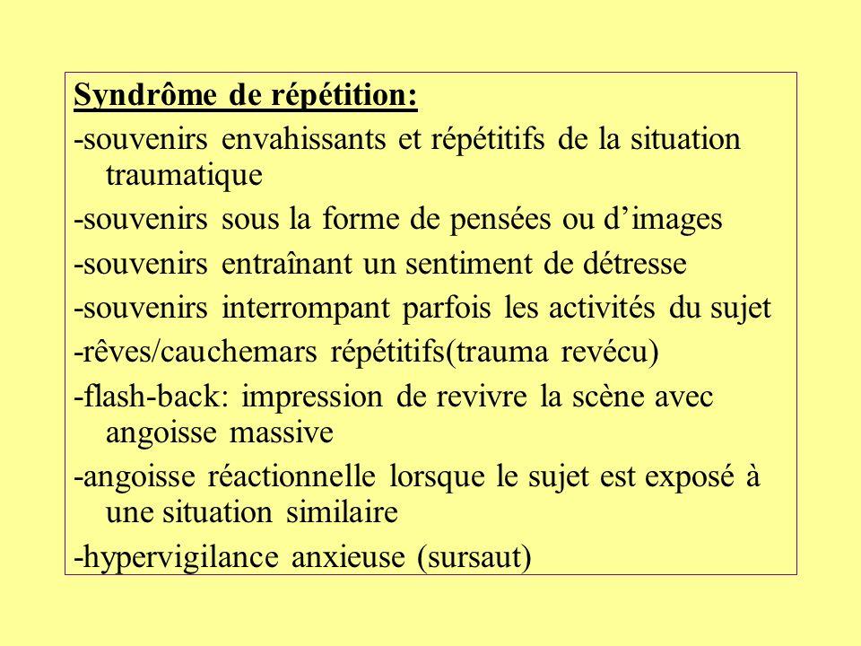 Syndrôme de répétition: