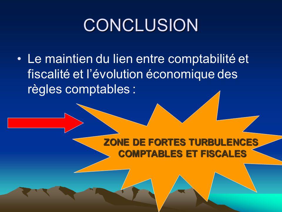 ZONE DE FORTES TURBULENCES COMPTABLES ET FISCALES