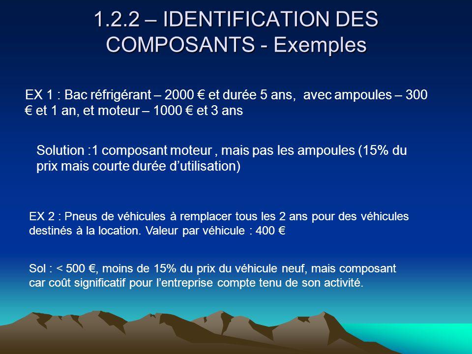 1.2.2 – IDENTIFICATION DES COMPOSANTS - Exemples