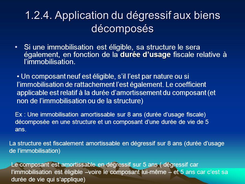 1.2.4. Application du dégressif aux biens décomposés