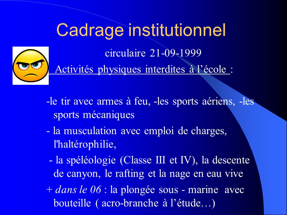 Cadrage institutionnel