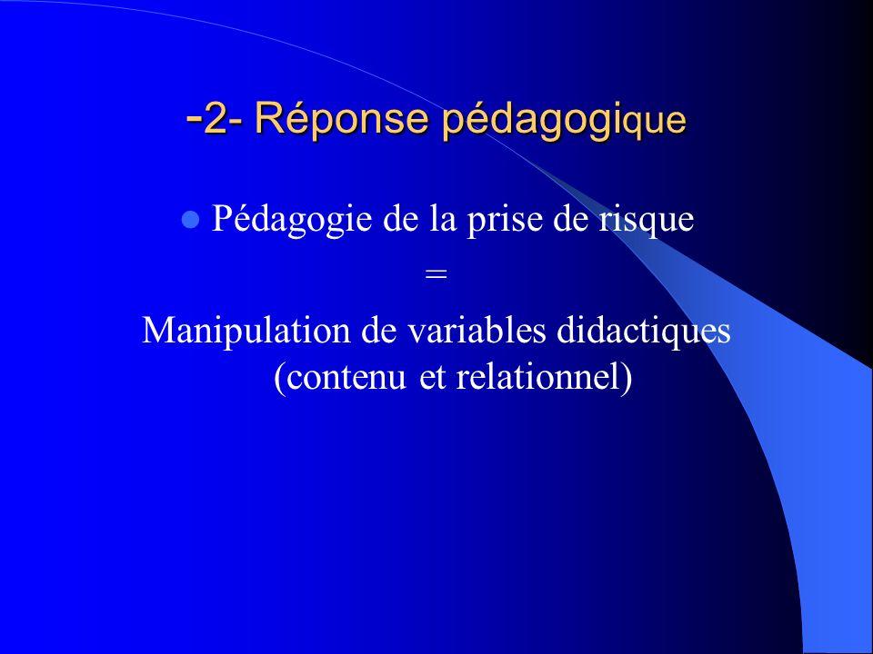 -2- Réponse pédagogique