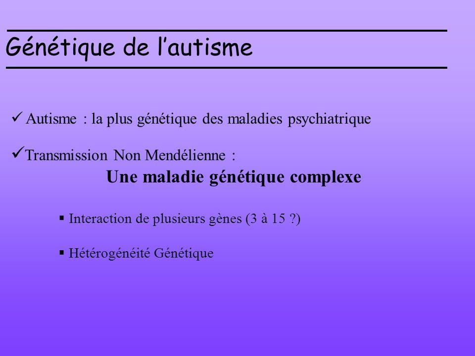 Génétique de l'autisme