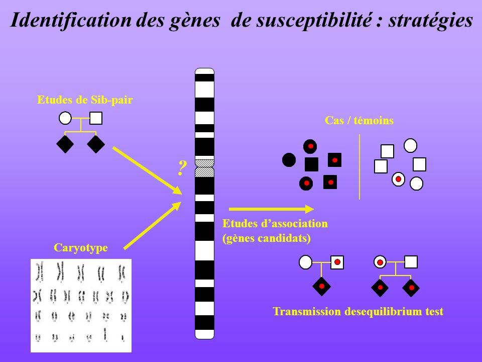Identification des gènes de susceptibilité : stratégies
