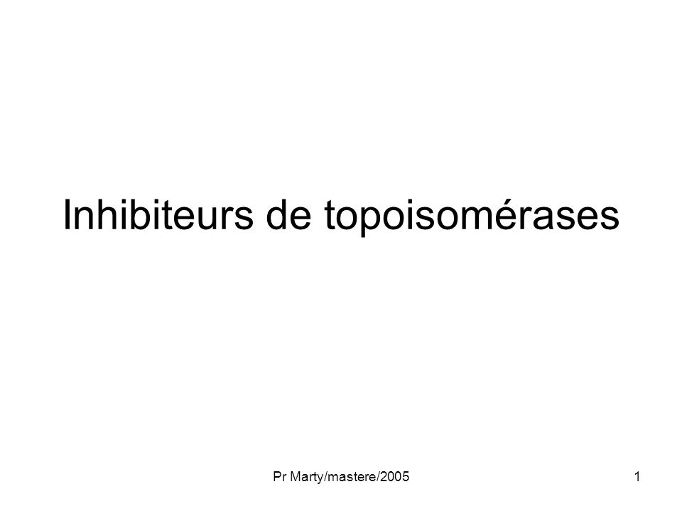 Inhibiteurs de topoisomérases