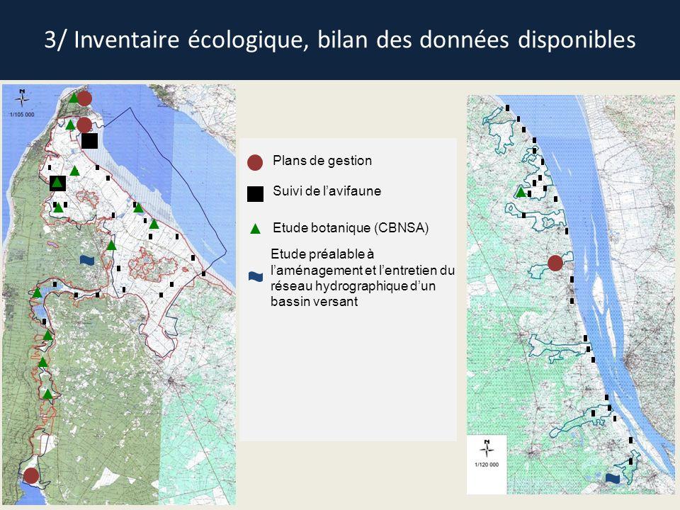 3/ Inventaire écologique, bilan des données disponibles