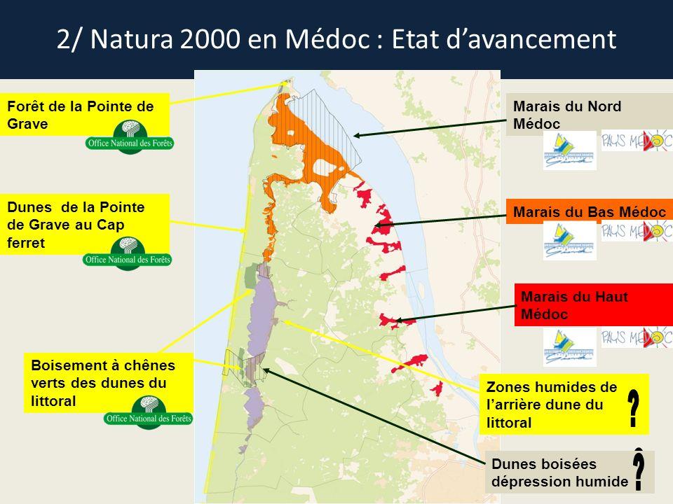 2/ Natura 2000 en Médoc : Etat d'avancement