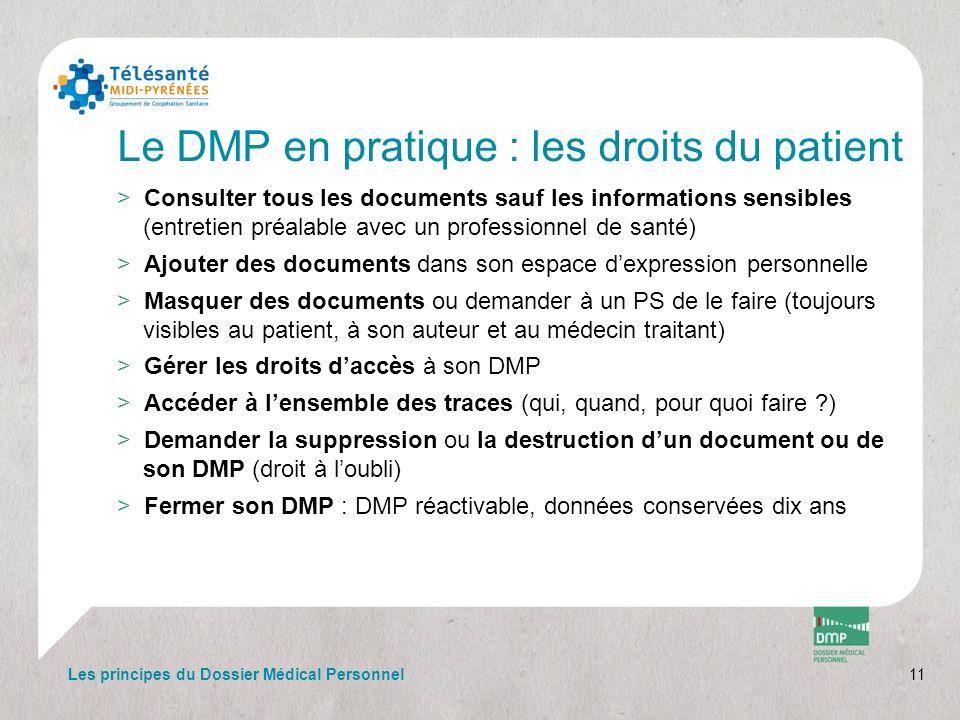 Le DMP en pratique : les droits du patient
