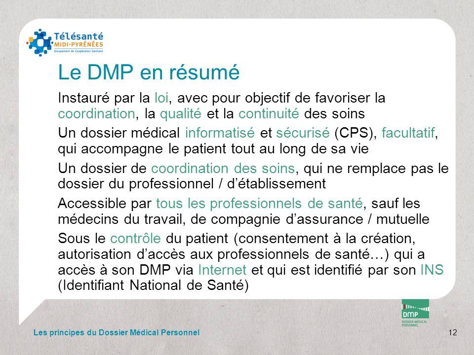 Le DMP en résumé