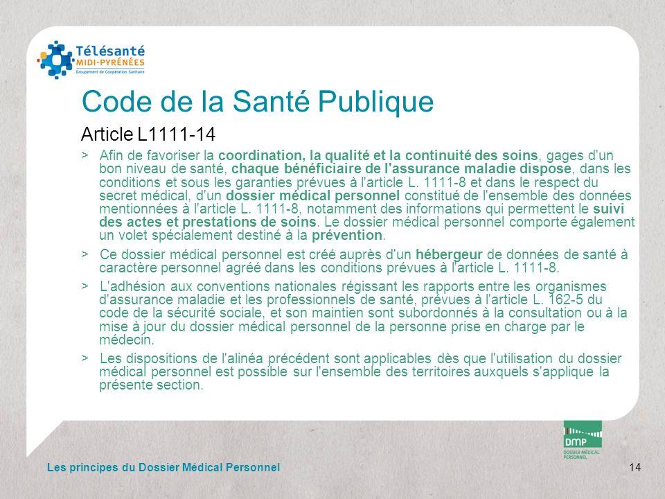 Code de la Santé Publique