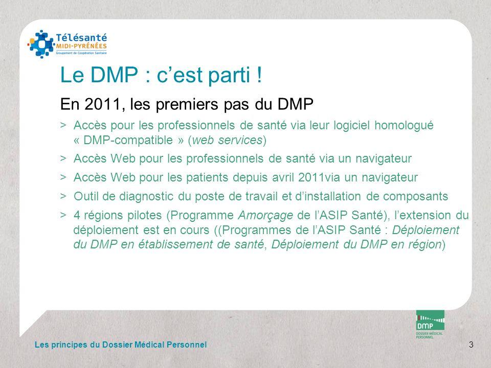 Le DMP : c'est parti ! En 2011, les premiers pas du DMP
