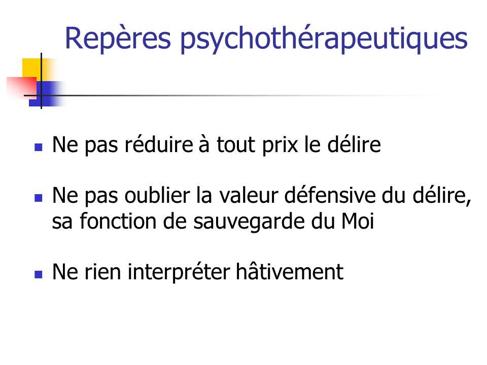 Repères psychothérapeutiques